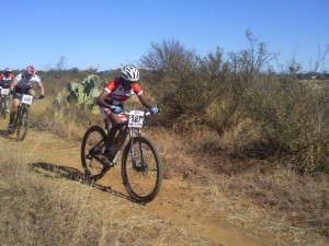 Phetetso sets the pace.  Proper bikes make a big difference.  This Giant XTC carbon comp is one of only 2 carbon bikes in Lesotho.  Thanks to Giant Bicycles South Africa